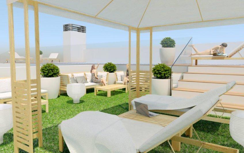Torrevieja. Knallfine leiligheter rett ved strandpromenaden. Fellesområde med basseng på takterrassen.