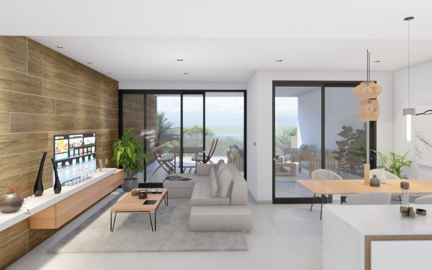 Moderne terrasseleiligheter med store terrasser og flott utsikt omringet av 3 golfbaner.